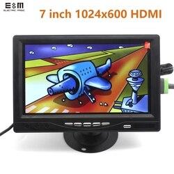 Monitor de toque 7 polegadas 1024*600 ips, módulo com hdmi vga tela av raspberry pi 3 banana