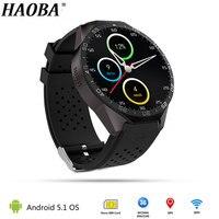 HAOBA Смарт часы с gps WI FI 3g Bluetooth монитор сердечного ритма шагомер поддерживает sim карты для IOS Android xiaomi oppo телефон