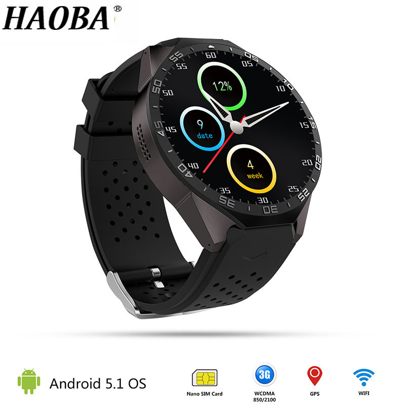 HAOBA Smart Watch with GPS WIFI 3G Bluetooth Heart Rate Monitor Pedometer supports SIM card For IOS Android xiaomi oppo phone smart watch men gps built in heart rate monitor pedometer 3g wifi bluetooth sport watch for running support sim card wrist watch