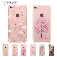 L-FADNUT Clear Silicone Soft Case For iPhone 7 8 6S 6 Plus X Xr Xs Max 5 5S SE Cartoon Transparent Protective Bumper Phone Cover стоимость