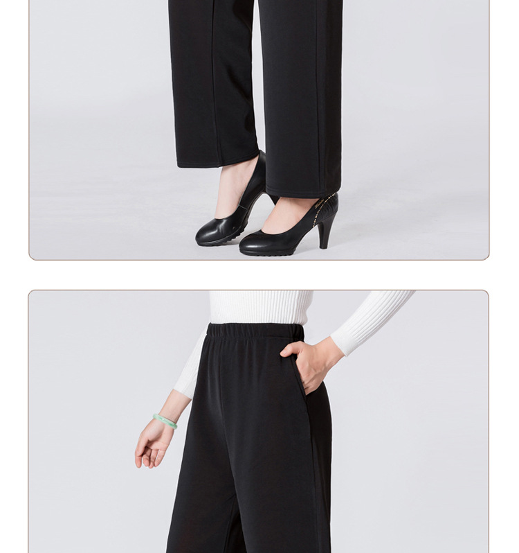 HTB1wwmRainrK1RjSsziq6xptpXaU - Winter Warm Long Wide Leg Pants Black Plus Size Pants 5xl Womens Hight Elastic Waist Office Ladies Fleece Loose Midi Trousers