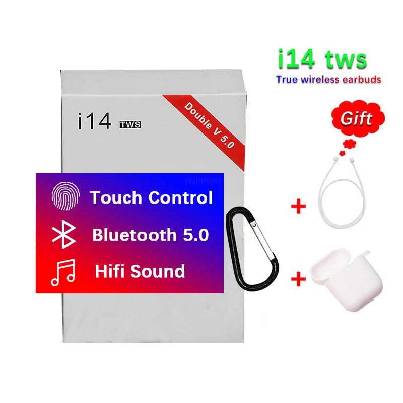 2019 nova i14 TWS touch fone de ouvido sem fio Bluetooth 5.0 subwoofer pk i7 i13 i11 i12 i10 tws para iPhone Android fone de ouvido
