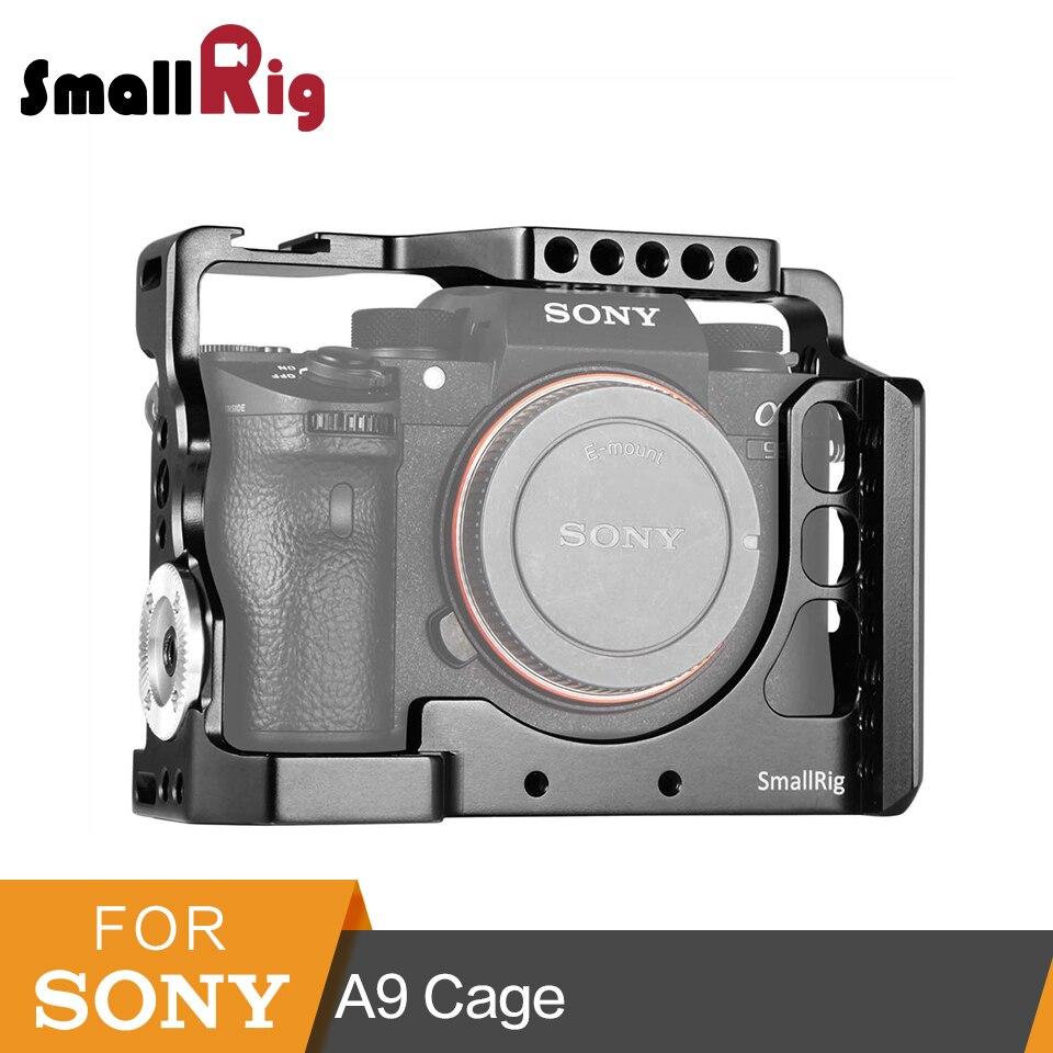 SmallRig Camera Cage For Sony a9  With Nato Rail Cold Shoe Mount + Arri Rosette Rig Kit-2013 smallrig camera cage for blackmagic pocket cinema camera bmpcc 1665