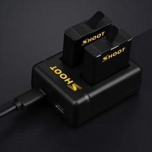 СТРЕЛЯТЬ 1 шт. AHDBT-501 Двухпортовый Зарядки и 2 шт. 1220 мАч Аккумулятор для GoPro Hero 5 Камеры С USB Кабель для Go pro Аксессуары
