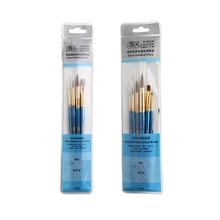 WINSOR&NEWTON Extra Fine Watercolor Brush Gouache Brush Siberia mixed Mink hair Artist Paint Brush Pen 4pcs/set 6pcs/set