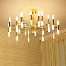 New Year Eve 2018  Limited Modern reading room Gold led light luminaria for kitchen dining room Bar golden suspension G9 Led lamp study Ceiling Chandeliers