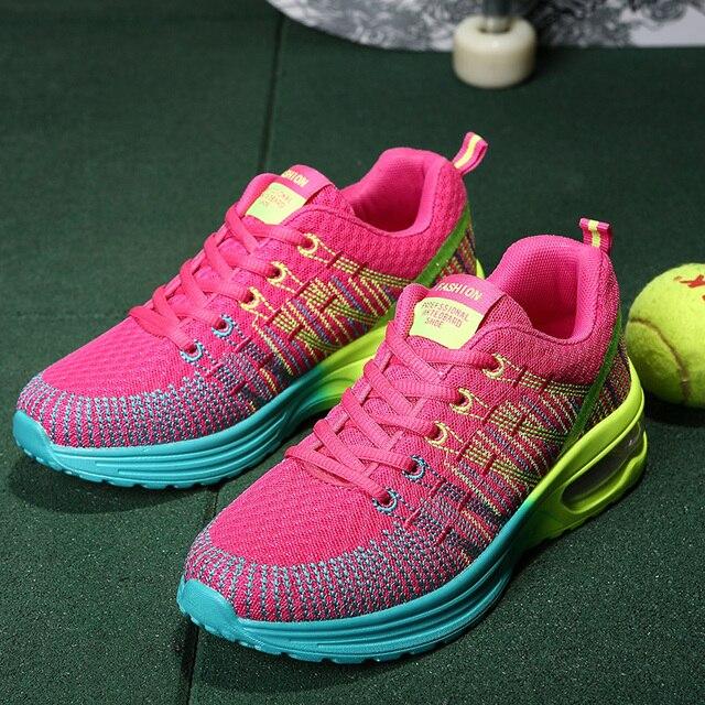 Libre Cojín Zapatos Mujeres Deporte Luontnor Aire Deportivos Al xqUO0CwSn