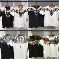 19SS 1:1 Top Version Marcelo Burlon T Shirt Animal Print Cotton T Shirts Streetwear Hip Hop Kanye West Marcelo Burlon Tshirt