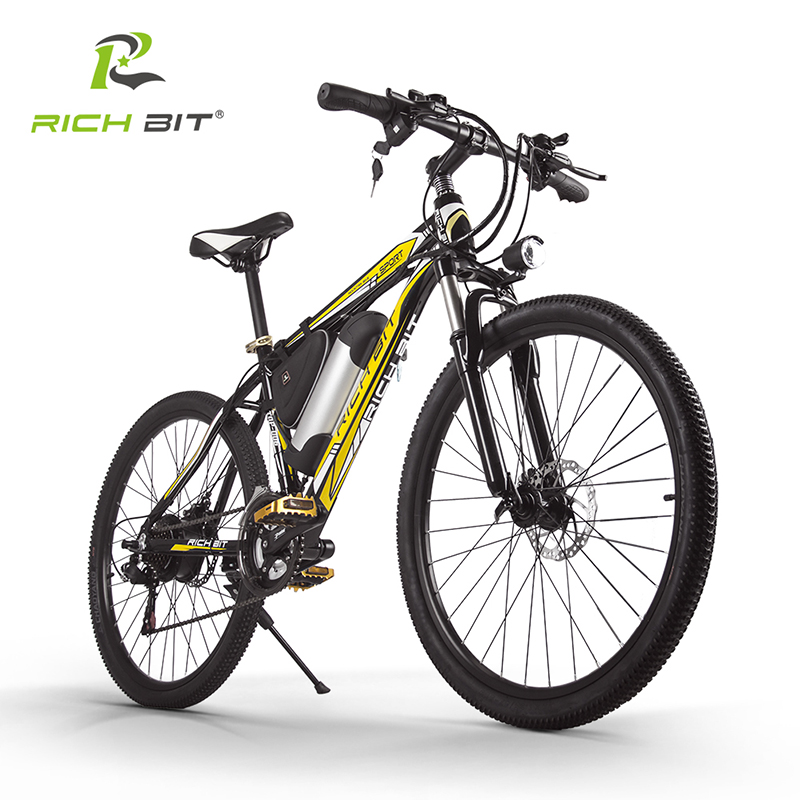 RichBit RT-006 Electric Bike 250W 36V 10.4AH Lithium Battery Mountain Electric Bicycle MTB Ebike 21 Speed Mountain Bicycle richbit road