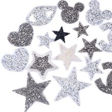 4.5cm Love Heart star design hotfix rhinestone motif iron on patches applique for heat transfer clothing shoe bag diy(China)