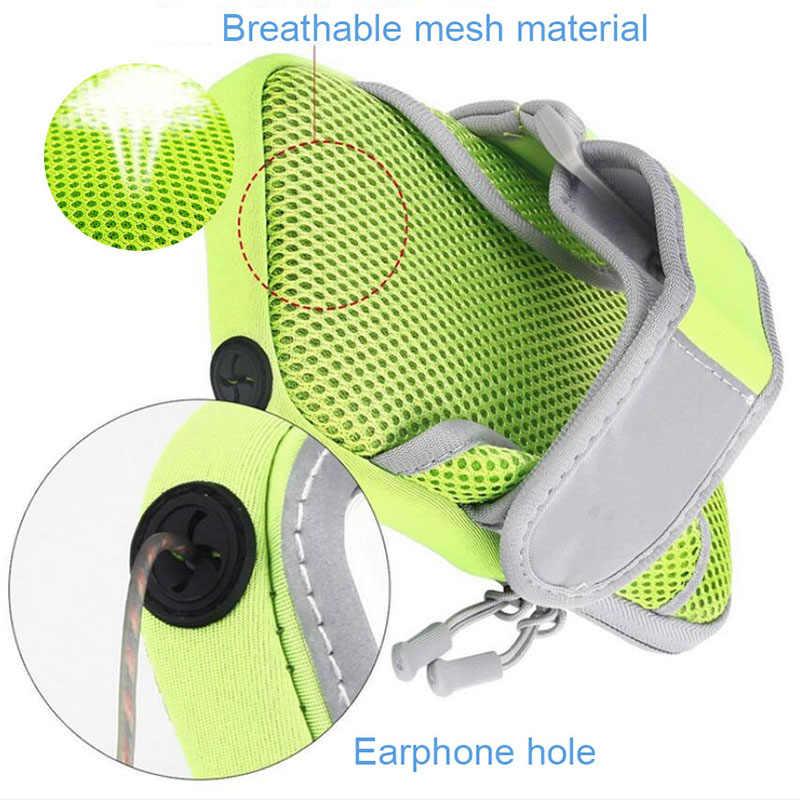 Opaska na ramię wodoodporna 5.5 cal telefon skrzynki pokrywa do biegania pasek sportowy pokrowiec torba uchwyt na telefon dla huawei/samsung/xiaomi torba na telefon