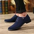 Лето прилив дышащие ткани обувь мужская повседневная обувь Британских мужчин указали обувь мужчины натуральная кожа Оксфорд квартиры обувь