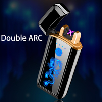 Plasma Lighter Electronic Lighter Cigarette Lighter For Smoking Usb Charge Double Arc