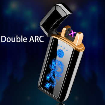 Plasma Lighter Electronic Lighter Cigarette Lighter For Smoking Usb Charge Double Arc - DISCOUNT ITEM  49% OFF All Category