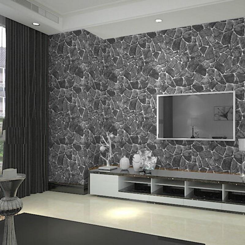 3d Slate Effect Wallpaper Beibehang Papel De Parede 3d Wall Panel Grey Brick Wall