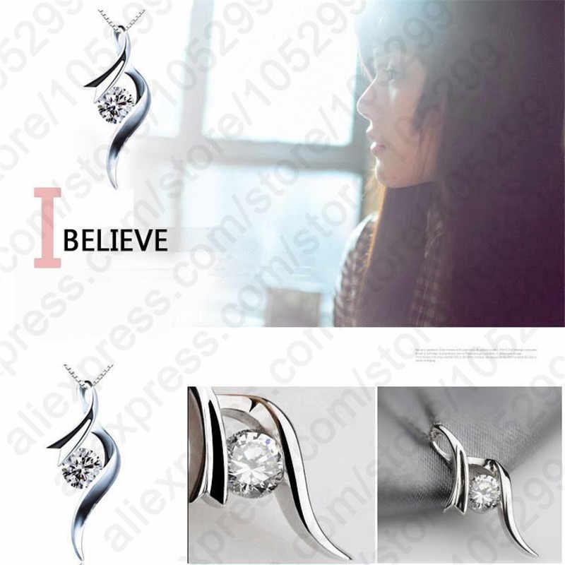925 bijoux en argent Sterling chaîne livraison gratuite nouveauté Style européen femmes fille cadeau cubique Zircon pendentif collier