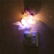 US Plug / EU Plug Mushroom Rose Light Sensor Home Bedroom Decor Colorful Nightlights 110V 220V Luminaria LED Night Light Lamp