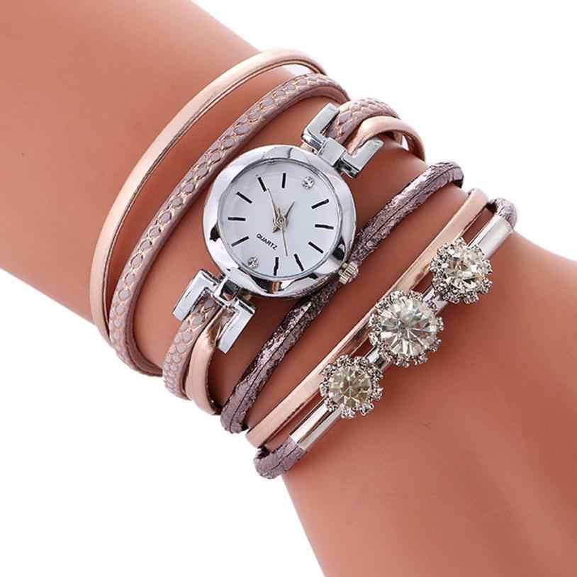 Moment # N03 zegarki damskie bransoletka okrągłe diamenciki zegarek studencki moda stół skórzana sukienka zegarek damski prezenty relogio feminino