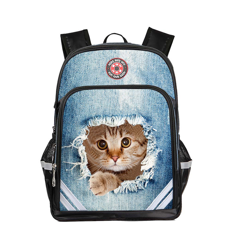 RUNNINGTIGER School Bags For Boys & Girls 3D Animals Printing Backpack 14 Inches Waterproof & Breathable Kids Travel Bags
