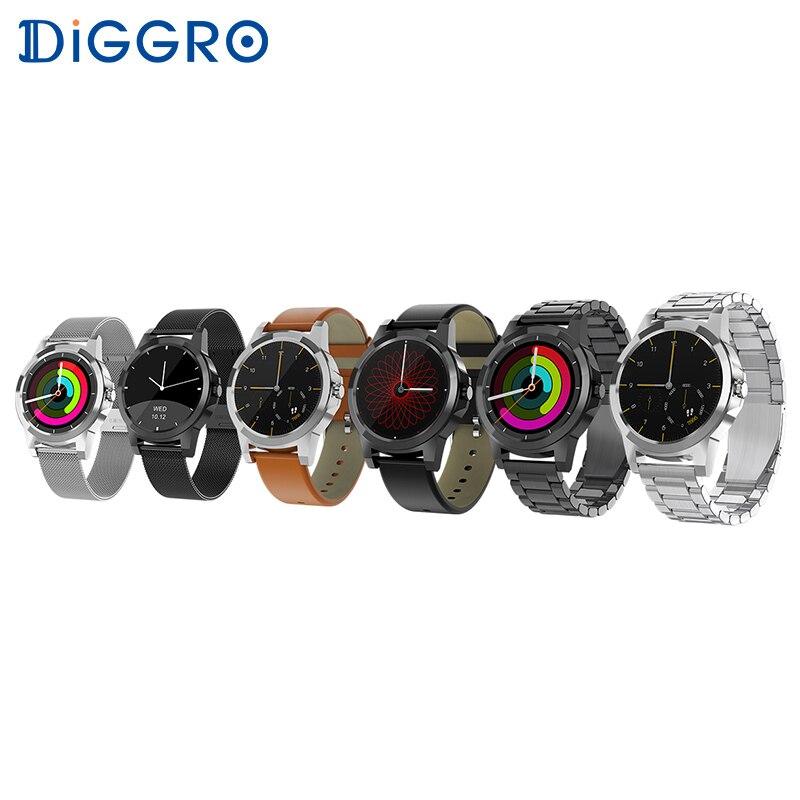 Diggro DI03 Plus Bluetooth Siri montre connectée IP67 Étanche moniteur de fréquence cardiaque moniteur de sommeil et podomètre pour Android et IOS