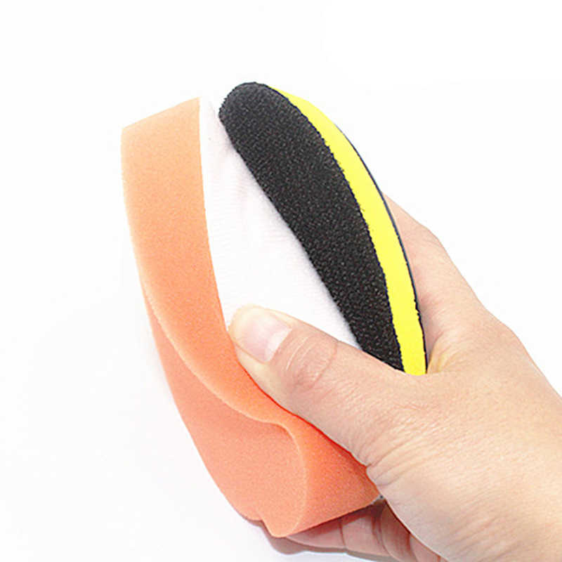 Herramienta de pintura de cera pulidora de esponja de limpieza para coche naranja plana rotativa venta útil duradera práctica