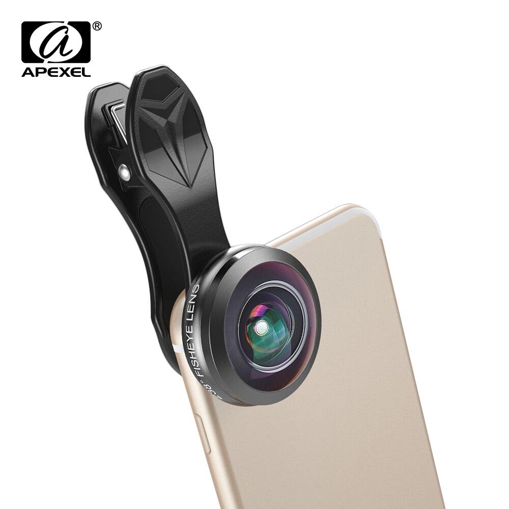 APEXEL Ponsel Universal Lensa Super 238 Derajat Lensa Mata Ikan 0.2X Full  Frame Lensa Wide Angle untuk iPhone 7 8 X PLUS Xiaomi Samsung di Ponsel  Lensa dari ... 186a797e2e