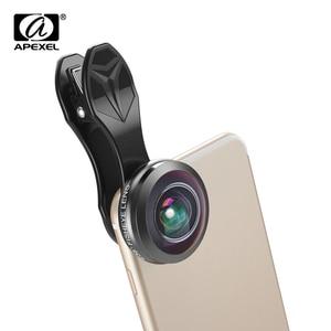 Image 2 - Универсальные телефонные линзы Apexel, супер 238 градусов, линзы «рыбий глаз», 0.2X полноразмерные широкоугольные линзы для iPhone 7 8 x plus xiaomi samsung