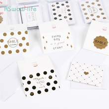 120pcs Simple Text Blessing Greeting Card Birthday Message Gilding Piece Festival Party Supplies