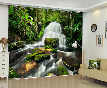 2017 Cave scenery photo Blackout Window Drapes Luxury 3D Curtains For Living room Bed room Office Hotel Home Wall Tapestry