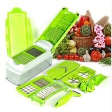 12pcs Kitchen Tool Set Super Slicer Plus Vegetable Fruit Peeler Dicer Cutter Chopper shredder Salad machine  free shipping