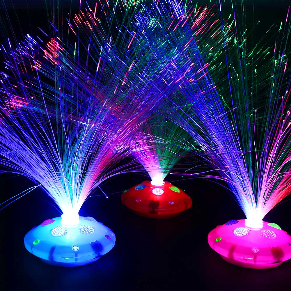 1 PC Luminous Multi-color LED Fiber Light-up Toy Rings Party Gadgets Kids Intelligent Toy Wedding Decoration Tool