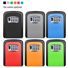 6 color 4 Digit Combination Password Safety Key Box Safe Lock Padlock Storage Keys Organizer Wall Mounted Boxes 3 digit compact padlock assorted color