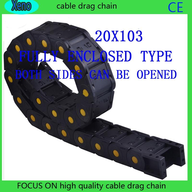 20x103mm Completamente Chiusa Tipo Rinforzato Nylon Wire Carrier Per CNC Itinerario Macchina20x103mm Completamente Chiusa Tipo Rinforzato Nylon Wire Carrier Per CNC Itinerario Macchina