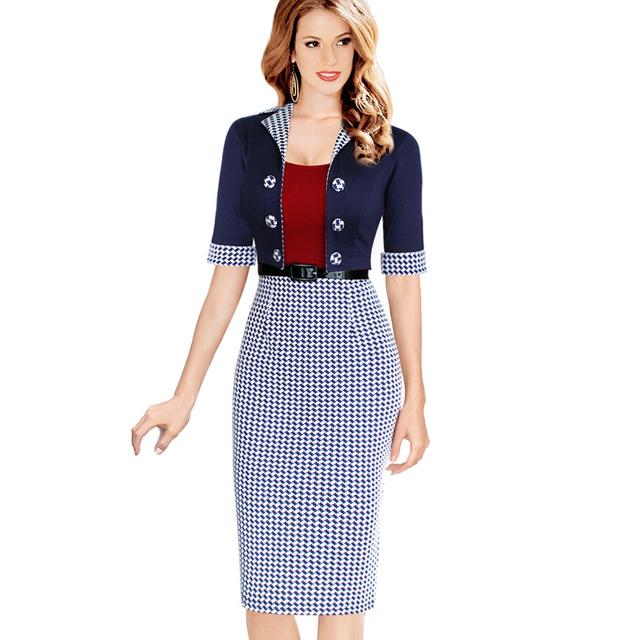 Mujeres elegantes trajes de negocios Blazer con faldas formales de oficina trabajan túnicas ropa de trabajo rodilla longitud vestido lápiz