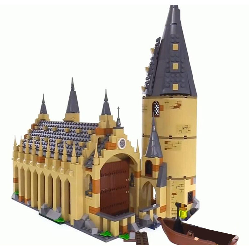 Lepin 16052 Harry Movie Potter compatible with Lego 75954 Hogwarts Great Wall Building Blocks House Model Kids Toys Gifts great wall style building home with jim spear