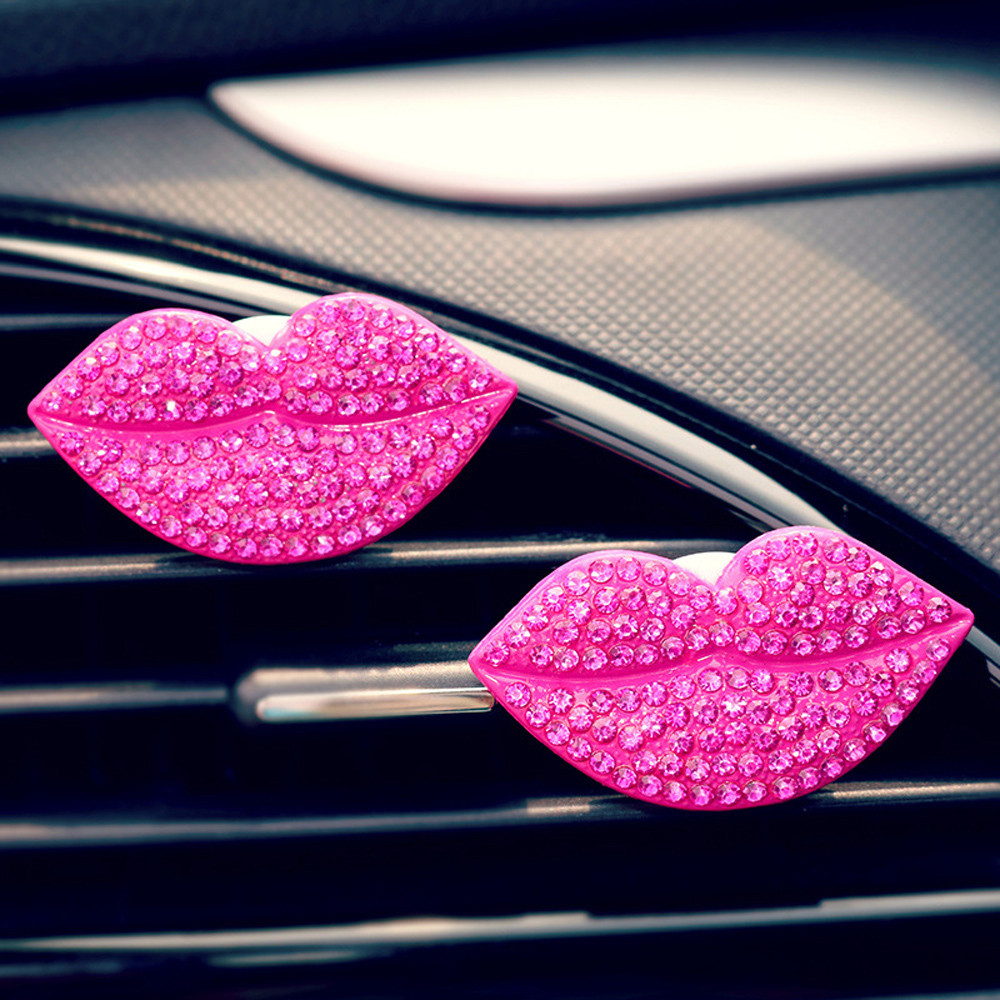 Interior Accessories Confident Car Loving Sexy Gift Air Outlet Fragrant Perfume Clip Lips Freshener Diffuser High Qualty Fragrance Material_1.24