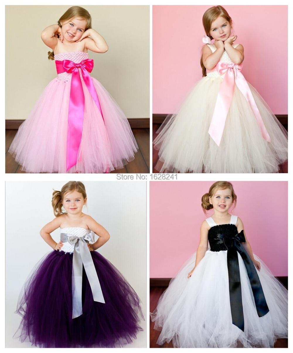 Blanco marfil rosado 3 colores vestidos niña para bebés de la boda ...