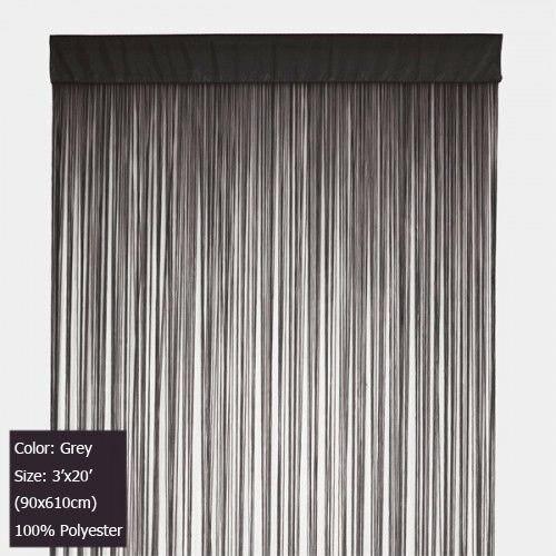Grijze string gordijnen fringe gordijn panel voor vliesgevel en ...