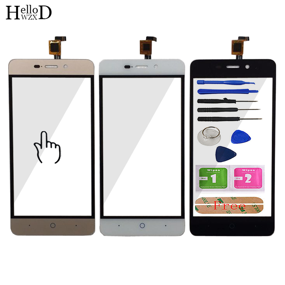 Touch Screen Digitizer Panel Lens Sensor For ZTE Blade X3 / Blade D2 / T620 Replace Part Mobile Phone Front Glass Tools Adhesive