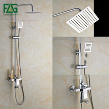 Good Quality Rotate Tub Filler Bath Shower Mixer Faucet Wall Mount 8 Nickle Brushed Rainfall Shower Head Handshower