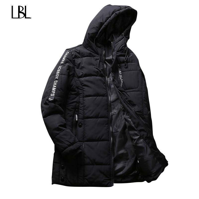 Winter Jacket Men Hip Pop 2018 New Mens Cotton Blend Mens Jean Jacket and Coats Casual Thick Clothing Male Windbreak Hoodie Men