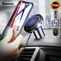 Baseus Magnetic Wireless Charger For iPhone 11 Pro Max X Samsung S9 Note Fast Charging Magnet Car Phone Holder Docking Station