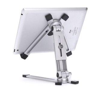Регулируемая Настольная металлическая подставка, держатель для планшета 360 для iPad mini 5 air 2 pro 12,9 11 9,7 Mipad Samsung Galaxy Tab 4-13 дюймов