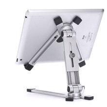 Có Thể Điều Chỉnh Để Bàn Kim Loại Giá Đỡ Máy Tính Bảng 360 Chân Đế Cho iPad Mini 5 Air 2 Pro 12.9 11 9.7 M iPad samsung Galaxy Tab 4 13 Inch