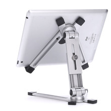 מעמד שולחן מתכוונן מתכת Tablet מחזיק 360 סוגר עבור ipad מיני 5 אוויר 2 פרו 12.9 11 9.7 M ipad samsung Galaxy Tab 4 13 אינץ