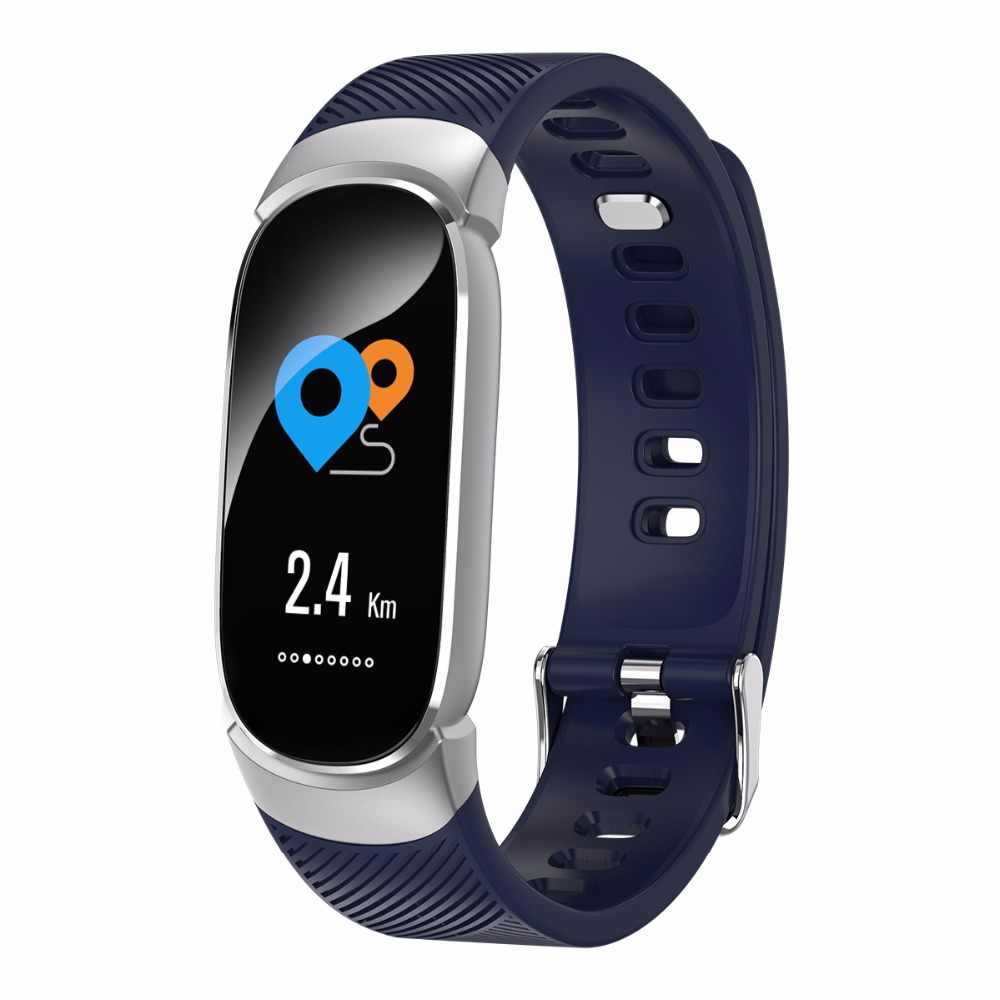 8050c0632d75 Nuevo reloj inteligente deportivo resistente al agua para mujer pulsera  inteligente banda Bluetooth Monitor de ritmo cardíaco rastreador de Fitness  ...