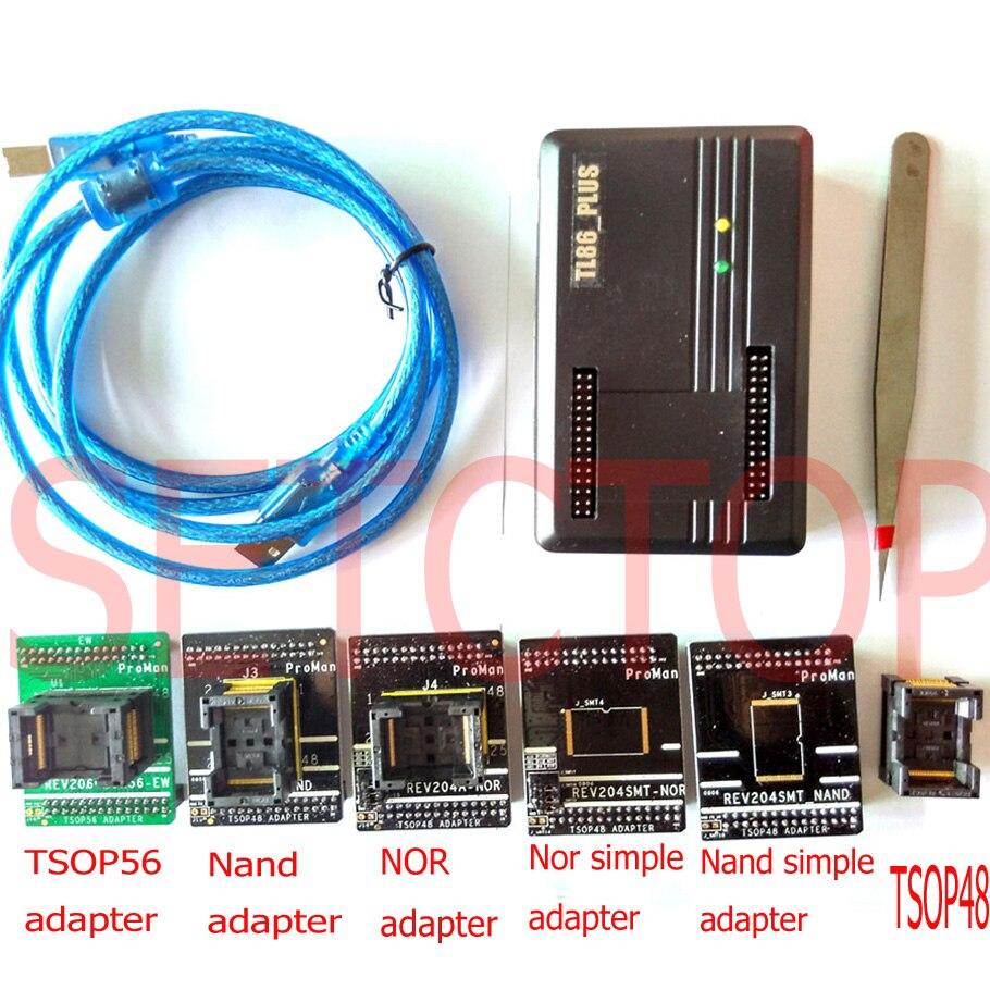 Programmeur flash ProMan nand NAND NOR TSOP48 programmeur FLASH TL866 PLUS programmeur NAND prise adaptateur de récupération de données FLASH
