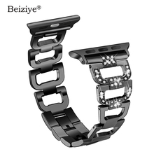 Diamond Stainless Steel Strap For Apple Watch Bands 44mm 40mm 38mm 42mm Wrist Bracelet Belt For iWatch Series 4 3 2 1 Watchband