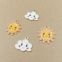 10pcs smiling face clouds charm sun charms for jewelry making fashion charm earring pendant metal charm