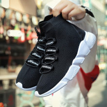Men Women Sock Sneakers Black Pink Running High Top Women shoes Breathable Mesh fitness sneakers Plus size 36-46 8616s